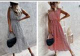 Polka Dress Lang _